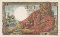 20 Francs PÊCHEUR FRANCE  1944 F.13.08 SUP+