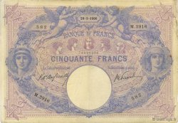 50 Francs BLEU ET ROSE FRANCE  1906 F.14.18 pr.TTB