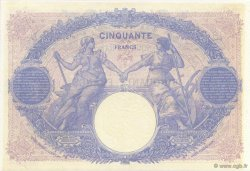 50 Francs BLEU ET ROSE FRANCE  1915 F.14.28 SUP+