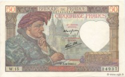 50 Francs JACQUES CŒUR FRANCE  1940 F.19.02 SUP