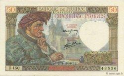 50 Francs JACQUES CŒUR FRANCE  1941 F.19.17 SUP+