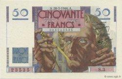 50 Francs LE VERRIER FRANCE  1946 F.20.02 pr.NEUF