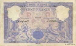 100 Francs BLEU ET ROSE FRANCE  1897 F.21.10 TB