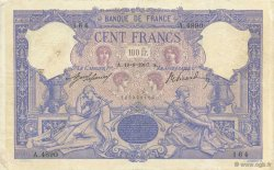 100 Francs ROSE ET BLEU FRANCE  1907 F.21.22 TB à TTB