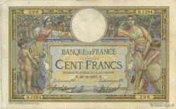 100 Francs LUC OLIVIER MERSON sans LOM FRANCE  1910 F.23.02 TB