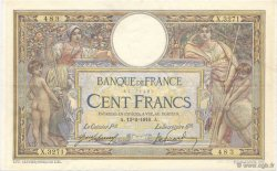 100 Francs LUC OLIVIER MERSON sans LOM FRANCE  1916 F.23.08 TTB à SUP