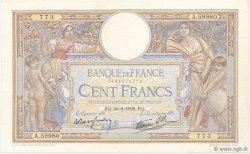 100 Francs LUC OLIVIER MERSON type modifié FRANCE  1938 F.25.24 pr.SUP