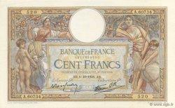 100 Francs LUC OLIVIER MERSON type modifié FRANCE  1938 F.25.30 SPL