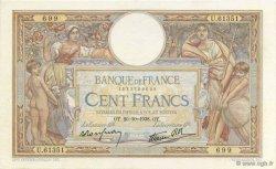 100 Francs LUC OLIVIER MERSON type modifié FRANCE  1938 F.25.32 pr.SUP