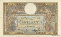 100 Francs LUC OLIVIER MERSON type modifié FRANCE  1939 F.25.49 TTB+
