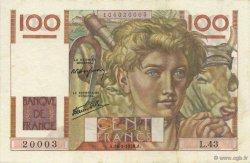 100 Francs JEUNE PAYSAN FRANCE  1946 F.28.04 SUP+
