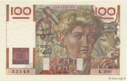 100 Francs JEUNE PAYSAN FRANCE  1947 F.28.14 SUP