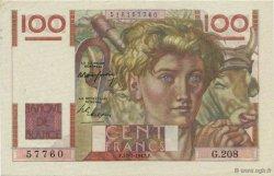 100 Francs JEUNE PAYSAN FRANCE  1947 F.28.15 SUP+