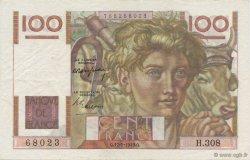 100 Francs JEUNE PAYSAN FRANCE  1949 F.28.22 SUP