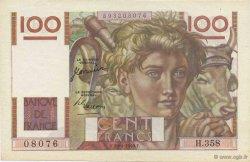 100 Francs JEUNE PAYSAN FRANCE  1950 F.28.25 SPL