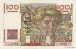 100 Francs JEUNE PAYSAN FRANCE  1953 F.28.38 SUP+