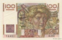 100 Francs JEUNE PAYSAN FRANCE  1954 F.28.41 SUP+