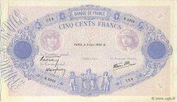 500 Francs BLEU ET ROSE type modifié FRANCE  1938 F.31.14 TTB+