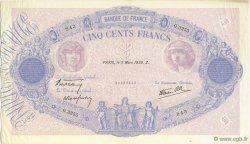 500 Francs BLEU ET ROSE type modifié FRANCE  1939 F.31.26 SUP