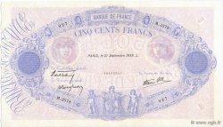 500 Francs BLEU ET ROSE type modifié FRANCE  1939 F.31.40 SUP+