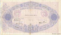 500 Francs BLEU ET ROSE type modifié FRANCE  1940 F.31.55 TTB