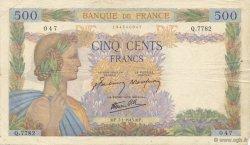 500 Francs LA PAIX FRANCE  1943 F.32.44 TB à TTB