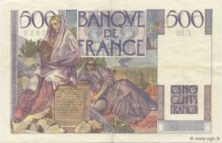 500 Francs CHATEAUBRIAND FRANCE  1945 F.34.02 pr.SUP
