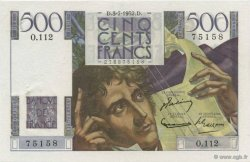 500 Francs CHATEAUBRIAND FRANCE  1952 F.34.09 SUP+