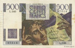 500 Francs CHATEAUBRIAND FRANCE  1953 F.34.12 TTB+