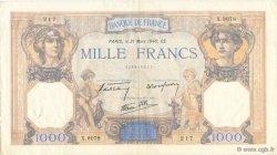 1000 Francs CÉRÈS ET MERCURE type modifié FRANCE  1940 F.38.44 TTB+