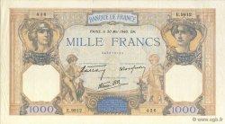 1000 Francs CÉRÈS ET MERCURE type modifié FRANCE  1940 F.38.48 SUP