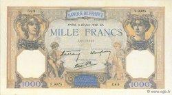 1000 Francs CÉRÈS ET MERCURE type modifié FRANCE  1940 F.38.49 SUP+
