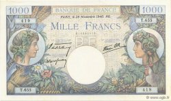 1000 Francs COMMERCE ET INDUSTRIE FRANCE  1940 F.39.02 SPL