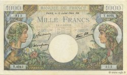 1000 Francs COMMERCE ET INDUSTRIE FRANCE  1944 F.39.11 SPL