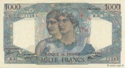 1000 Francs MINERVE ET HERCULE FRANCE  1945 F.41.03 SPL