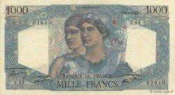 1000 Francs MINERVE ET HERCULE FRANCE  1945 F.41.05 SPL