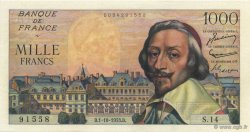 1000 Francs RICHELIEU FRANCE  1953 F.42.03 SPL