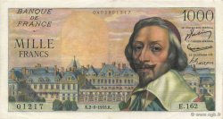 1000 Francs RICHELIEU FRANCE  1955 F.42.14 pr.SPL