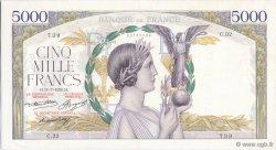 5000 Francs VICTOIRE Taille Douce FRANCE  1935 F.44.03 TTB