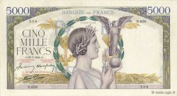 5000 Francs VICTOIRE Impression à plat FRANCE  1941 F.46.24 SUP