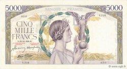 5000 Francs VICTOIRE Impression à plat FRANCE  1941 F.46.28 SUP+