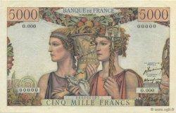 5000 Francs TERRE ET MER FRANCE  1949 F.48.00 SPL