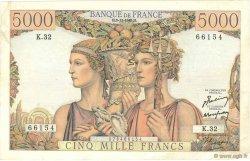 5000 Francs TERRE ET MER FRANCE  1949 F.48.02 TTB à SUP