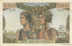 5000 Francs TERRE ET MER FRANCE  1953 F.48.08 SUP à SPL