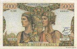 5000 Francs TERRE ET MER FRANCE  1953 F.48.10 SUP+