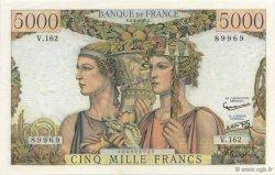5000 Francs TERRE ET MER FRANCE  1957 F.48.14 SUP à SPL
