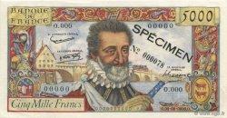5000 Francs HENRI IV FRANCE  1957 F.49.00 SPL