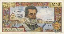 5000 Francs HENRI IV FRANCE  1957 F.49.01 SUP+