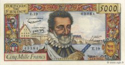 5000 Francs HENRI IV FRANCE  1957 F.49.02 SUP+