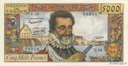 5000 Francs HENRI IV FRANCE  1958 F.49.07 pr.NEUF
